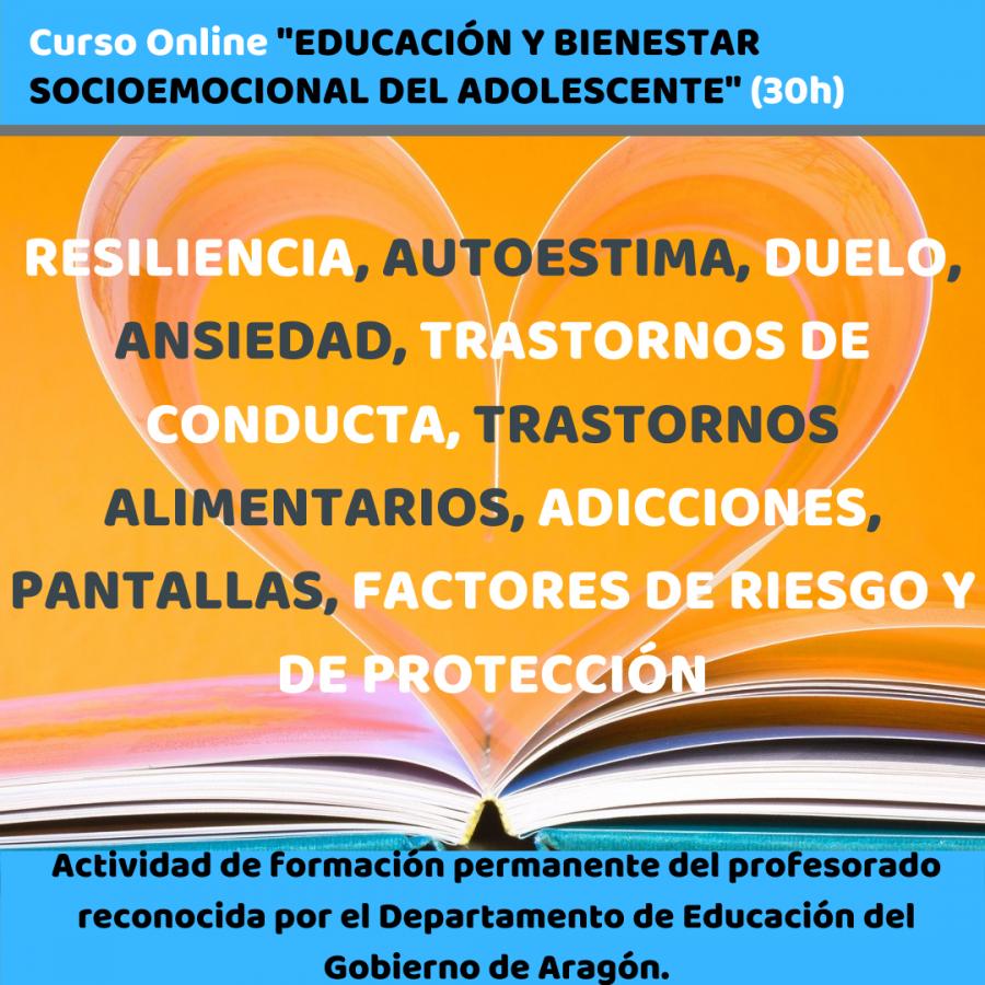 Curso Online EDUCACIÓN Y BIENESTAR SOCIOEMOCIONAL DEL ADOLESCENTE (30h)